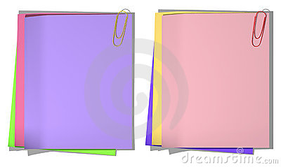 Color sheets of a paper for record 01