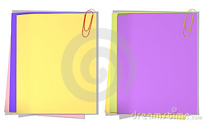 Color sheets of a paper for record