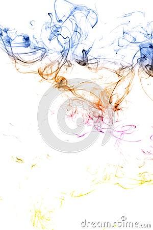 Color smoke isolated