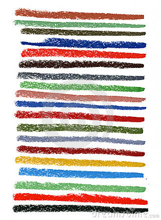 Color smudged lines with pastel crayons