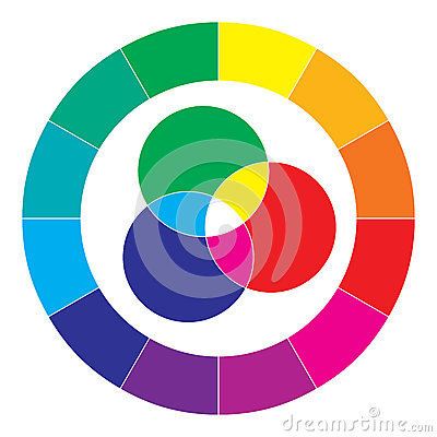 Free Color Spectrum Abstract Wheel, Colorful Diagram Royalty Free Stock Images - 34564279
