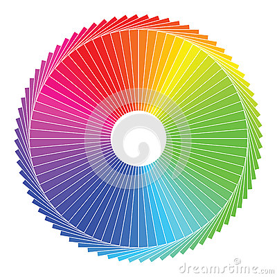 Free Color Spectrum Abstract Wheel, Colorful Diagram Ba Royalty Free Stock Photos - 34190448