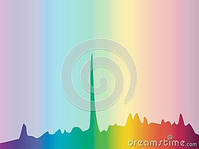 Color spectrum diagram background