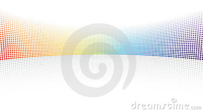 Color spectrum dots