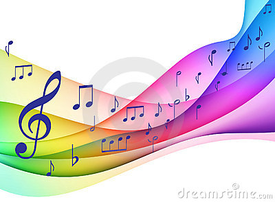 Color Spectrum Musical Notes Original Illustrati