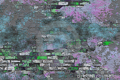 Color Splash Brick Grunge