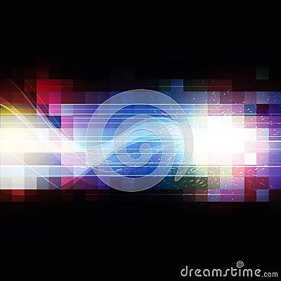 Color square pixel background