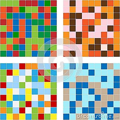 Color squares texture