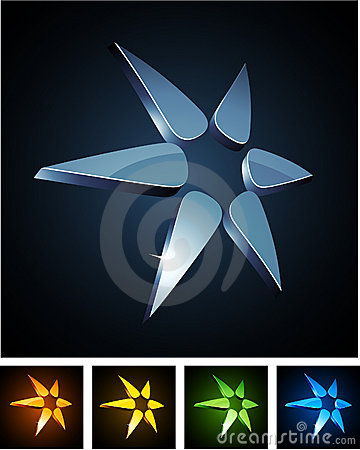 Free Color Star Vibrant Emblems. Royalty Free Stock Photo - 20933815