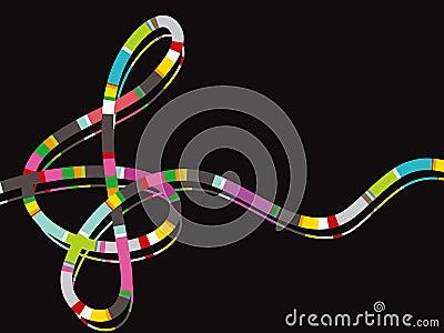 Color stripe music note