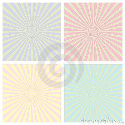 Color sunrise pattern set