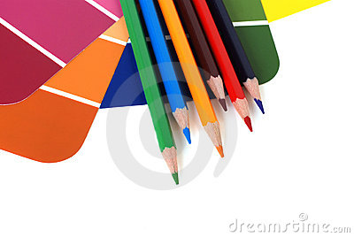 Color swatches and pencils