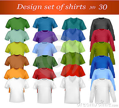 Color t-shirt design template. Vector.