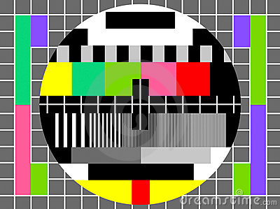Color Test For Television Screen Stock Photo