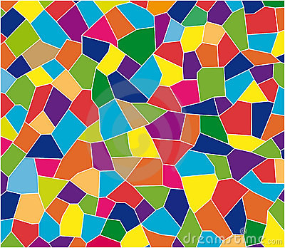 Color tiles mosaic