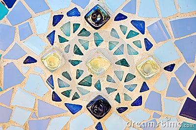 Color tiles mosaic.