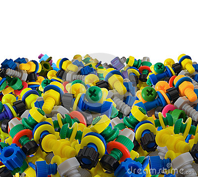 Free Color Toy Plastic Bolts And Nuts Stock Photo - 28559330