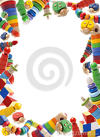 Color Toys Border Stock Image Image 35021511