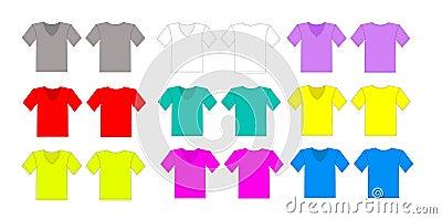 Color tshirt vector set