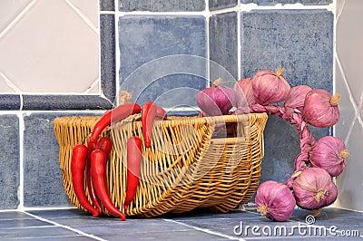 Color vegetable in kitchen