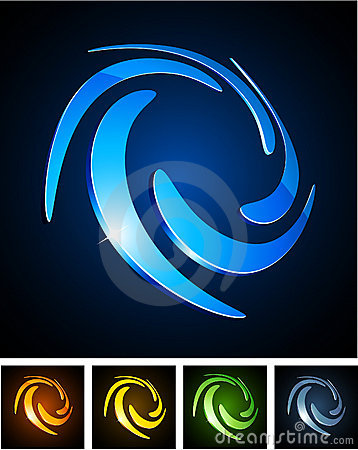 Free Color Vibrant Emblems. Royalty Free Stock Photos - 18519698
