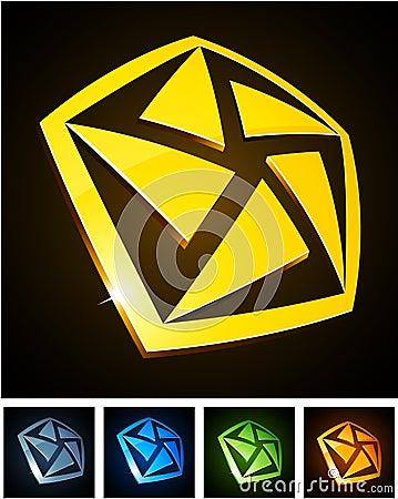 Free Color Vibrant Emblems. Stock Image - 18533651