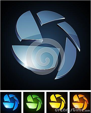 Free Color Vibrant Emblems. Stock Photos - 18557473