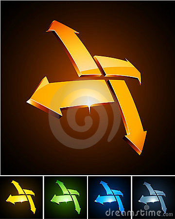 Free Color Vibrant Emblems. Stock Photography - 18609012
