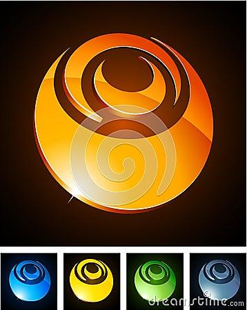 Free Color Vibrant Emblems. Stock Image - 18819121