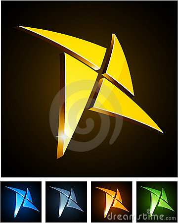 Free Color Vibrant Star Emblems. Stock Photography - 18648312