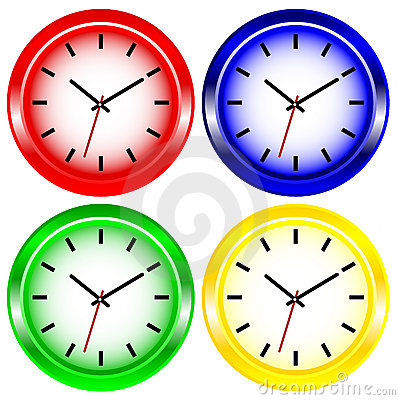 Color Wall Clock