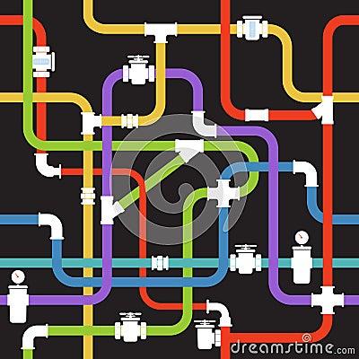 Color water pipeline