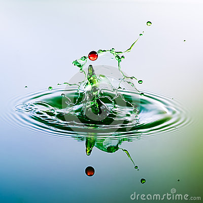 Free Color Waterdrops Collide Each Other Royalty Free Stock Photos - 38401168