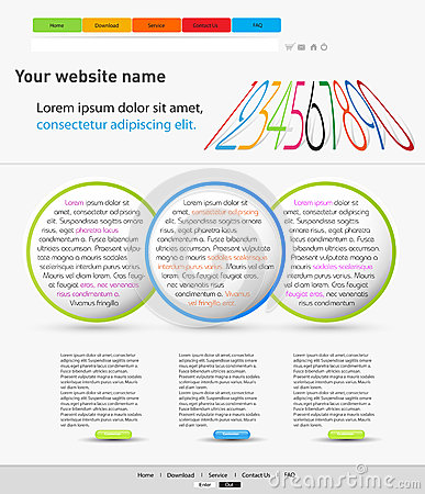 Color web design template