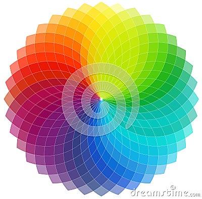Color wheel background