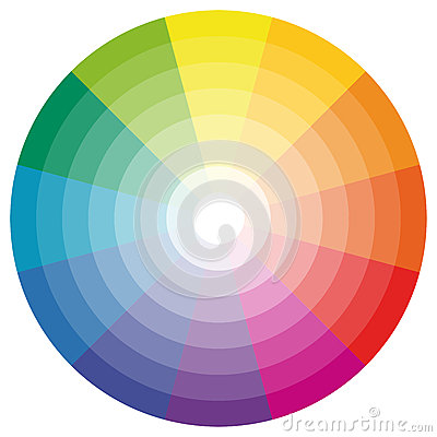 Free Color Wheel With Twelve Colors Royalty Free Stock Images - 76143819