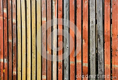 Color wooden fence