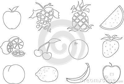 Color Your Own Fruit Royalty Free Stock Image Image