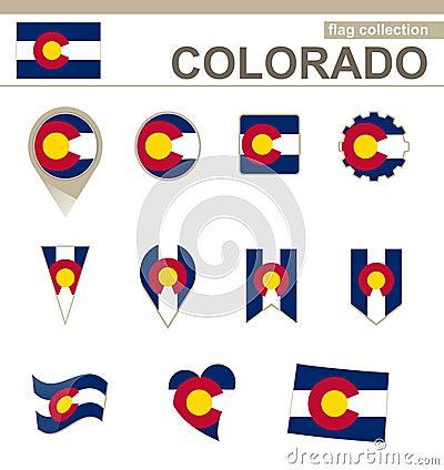 Free Colorado Flag Collection Stock Photography - 129647202