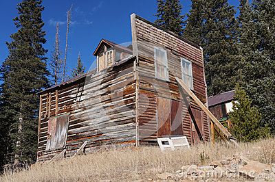 Colorado ghost town building