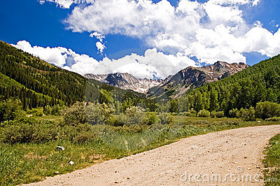 Colorado Mountains and Clouds