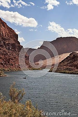 The Colorado river in abrupt coast