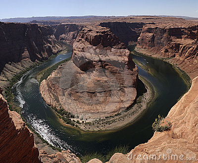 Colorado River at Horseshoe Bend in Arizona