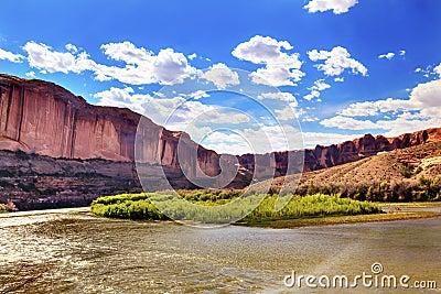 Colorado River Rock Canyon Moab Utah