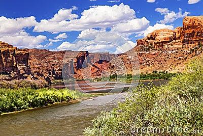 Colorado River Rock Canyon Reflection