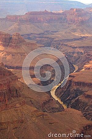 Colorado River Winding Through Grand Canyon