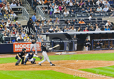 Colorado Rockies x New York Yankees Baseball Editorial Stock Image
