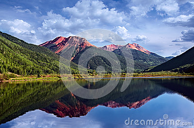 Colorado San Juan Skyway Red Iron Peaks Lake