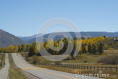 Colorado scenic road in fall