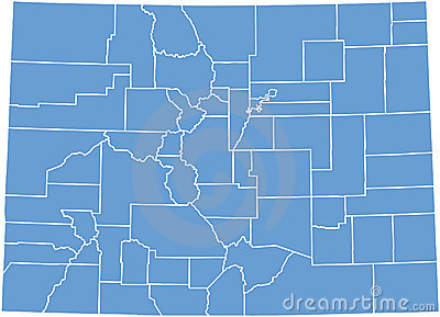 Colorado State map  by counties